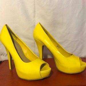 Chinese Laundry Bright Yellow heels